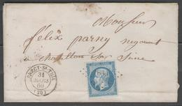 Côte D'or:  P.c.1839 Sur N°14A + CàD PRECY-SOUS-THIL(20) Sur LSC De 1860 - Marcophilie (Lettres)