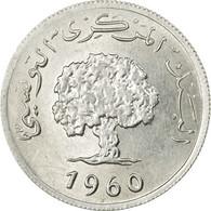 Monnaie, Tunisie, 2 Millim, 1960, Paris, SUP+, Aluminium, KM:281 - Tunisia