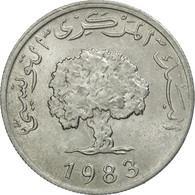 Monnaie, Tunisie, 5 Millim, 1983, Paris, TTB+, Aluminium, KM:282 - Tunisia