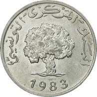 Monnaie, Tunisie, 5 Millim, 1983, Paris, TTB, Aluminium, KM:282 - Tunisia