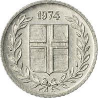 Monnaie, Iceland, 10 Aurar, 1974, SUP, Aluminium, KM:10a - Islande