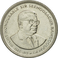 Monnaie, Mauritius, 1/2 Rupee, 1991, SUP+, Nickel Plated Steel, KM:54 - Maurice