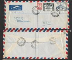 S.Rhodesia, Registered Air Mail Cover, HILLSIDE BULAWAYO S.R. 15 OCT 1949 > NDOLA N. RHODESIA19 OCT 49, - Rhodesia (1964-1980)