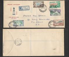 S. Rhodesia, First Day Cover,Rhodes Centenary, Registered, SALISBURY S. RHODESIA 15APR 1953 >NDOLA N. RHODESIA 17 AP 53 - Southern Rhodesia (...-1964)
