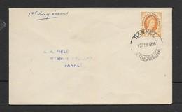Rhodesia & Nyasaland, Definitive 2 1/2d, First Day Cover, BANKET S. RHODESIA 15 FEB 56  > Banket - Rhodesia & Nyasaland (1954-1963)