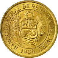Monnaie, Pérou, 5 Soles, 1980, Lima, TTB, Laiton, KM:271 - Pérou