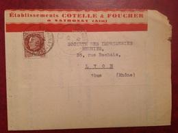 Sathonay 1941 Cotelle Foucher - Marcophilie (Lettres)
