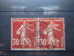"""VEND BEAUX TIMBRES DE FRANCE N° 360 EN PAIRE , CACHET """" MONT SAINT-MICHEL """" !!! - 1906-38 Sower - Cameo"""