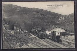 CPA 48 - VILLEFORT - La Gare - TB GROS PLAN CHEMIN DE FER TB TRAINS WAGONS - Villefort