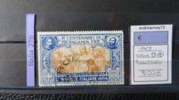 ITALY KINGDOM- SASSONE NUMBER 134 USED - 1900-44 Vittorio Emanuele III