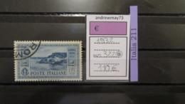 ITALY KINGDOM- SASSONE NUMBER 322 USED - 1900-44 Vittorio Emanuele III