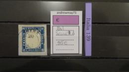 ITALY KINGDOM- SASSONE NUMBER 11 USED ON PAPER - 1861-78 Vittorio Emanuele II