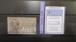 ITALY KINGDOM- SASSONE AIR MAIL NUMBER 5 USED - 1900-44 Vittorio Emanuele III