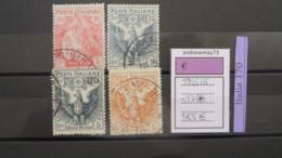 ITALY KINGDOM- SASSONE SET  NUMBER S 17 USED - 1900-44 Vittorio Emanuele III