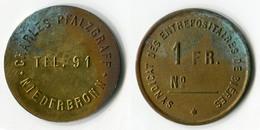 N93-0529 - Monnaie De Nécessité - Niederbronn-les-Bains - Charles Pfalzgraff - 1 Franc - Monetari / Di Necessità