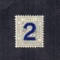 Germania - Wurttenberg - 1919 - Francobollo Di Servizio Del 1916 Sovrastampato - Nuovo - Linguellato - (FDC12570) - Nuovi