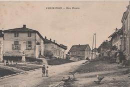 CPA 51. CHEMINON. Rue Haute - Autres Communes