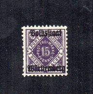 Germania - Wurttenberg - 1919 - Francobollo Di Servizio Del 1907/16 Sovrastampato - Nuovo - Linguellato - (FDC12571) - Nuovi