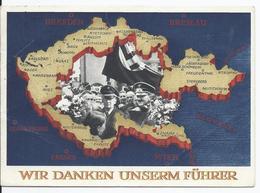 Dt.- Reich (002771) Propaganda Ganzsache P279 Wir Danken Unserem Führer,gel Mit Landpoststempel Schienen über Radolfzell - Affrancature Meccaniche Rosse (EMA)