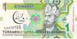 Turkmenistan - Pick 36 - 1 Manat 2017 - Unc - Commemorative - Turkmenistan