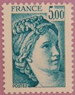 FRANCE TYPE SABINE  ANNEE 1981 YT 2123 NEUFS** - France