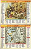 Calandrier Lavigne De 1997 - Malle Poste - Carte Des Routes De Poste En 1626 - Calendriers
