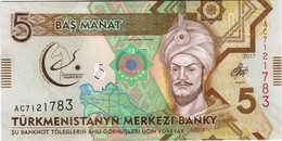 Turkmenistan - Pick 37 - 5 Manat 2017 - Unc - Commemorative - Turkménistan