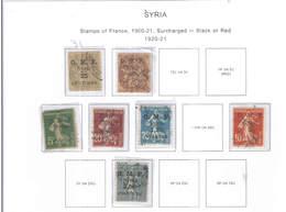 Syria PO 1920/21 France St.ovpr. Scott.31+32+35+36+37+39+41 See Scan On Scott.Page - Siria