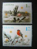 Holy Christmas And New Year # Lietuva Litauen Lituanie Litouwen Lithuania 2004 MNH # Mi. 861/2 Birds - Lithuania