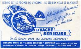 BUVARD(FROMAGE) LA VACHE SERIEUSE(GROSJEANVILLE) - Buvards, Protège-cahiers Illustrés