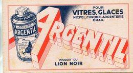 BUVARD(LION NOIR) ARGENTIL - Buvards, Protège-cahiers Illustrés