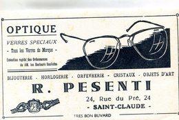 BUVARD(OPTIQUE) SAINT CLAUDE - Buvards, Protège-cahiers Illustrés