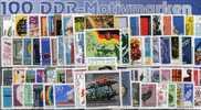 DDR 100 Verschiedene Sperrwerte **, SST Oder O Mindestens 200€ Gesuchte Marken Aus Vielen Serien Stamps GDR Germany - Stamps