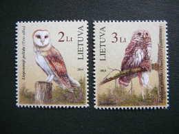 The Red Book Of Lithuania. Owls.Birds # Lietuva Litauen Lituanie Litouwen # 2014 MNH #Mi. 1156/7 - Lithuania
