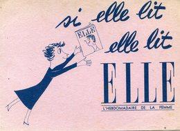 BUVARD(ELLE) JOURNAL - Buvards, Protège-cahiers Illustrés
