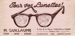 BUVARD(OPTIQUE) LUNETTE(CHALONS SUR MARNE) - Blotters