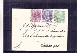 Autriche - Lettre De 1909 - Oblit Eger - Exp Vers Weiden - Briefe U. Dokumente
