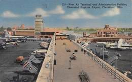 """07545 """"NEW AIR TERMINAL AND ADMINISTRATION BUILDING CLEVELAND HOPKINS AIRPORT - OHIO"""" CART. ORIG. SPED. '57 - Aerodromi"""