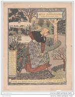 CALENDRIER BELLE JARDINIERE 1898 / JANVIER - FORMAT 18X24 - Calendars