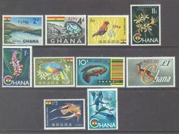 GHANA - 1967 - MNH/** - OVERPRINT NEW CURRENCIES - Yv 266-273 PA13-14 - Lot 17901 - Ghana (1957-...)