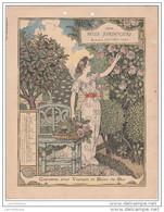 CALENDRIER BELLE JARDINIERE 1898 / JUIN - FORMAT 18X24 - Calendriers