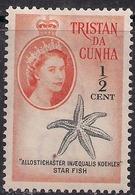 Tristan Da Cunha 1960 QE2 1/2ct Star Fish MM SG 42 ( H1362 ) - Tristan Da Cunha