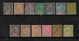 Colonie Timbres De Nossi-Bé Série De 1894  N°33 A 39  38 Et 39 1 Dent Courte (3 Neufs * Et 4 Oblitérés)  Cote 160€ - Nossi-Be (1889-1901)