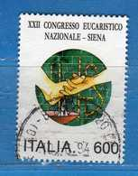 ITALIA ° - 1994 - CONGRESSO EUCARISTICO SIENA.  Unif. 2147.   Vedi Descrizione - 6. 1946-.. Republik