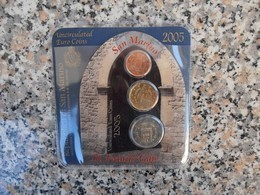 SAN MARINO MINIKIT 2005 - 2 Cent. + 20cent. + 2 Euro - San Marino