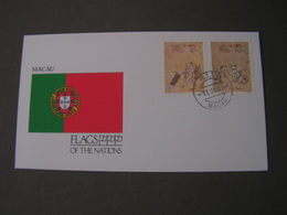 Macao Flag FDC 1991 - Macao