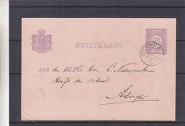 Pays Bas - Carte Postale De 1890 - Entiers Postaux - Oblit Groningen - Exp Vers Adorp - Postal Stationery