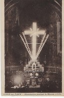 LISLE SUR TARN  : L'Eglise Illumination Pendant La Mission ( 1936) Trés Rare - Lisle Sur Tarn