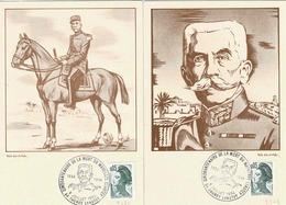 TP 2178 Sur Deux Cartes Postages Du Cinquantenaire De La Mort Du Mal Lyautey - 1961-....