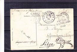 Belgique - Carte Postale De 1908 - Oblit Heyst Sur Mer - Exp Vers Gérardmer - Réexpédié Vers Liège - Vue Littoral Belge - 1893-1907 Coat Of Arms